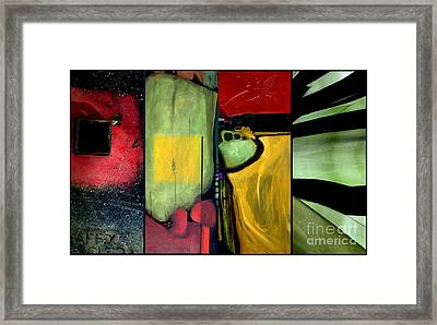 Double Diptychin' Framed Print by Marlene Burns