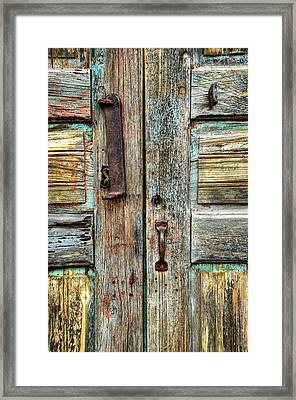 Double Door Hardware Framed Print