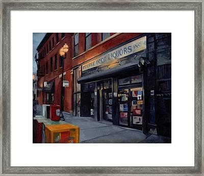 Double Door Wicker Park Bucktown Chicago Framed Print