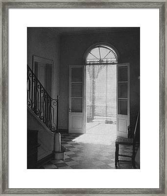 Double Doors In The Home Of Dr. Joseph Weis Framed Print by Raymond Bret-Koch
