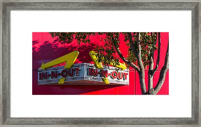 Double Double With Cheese Animal Style Yum Framed Print