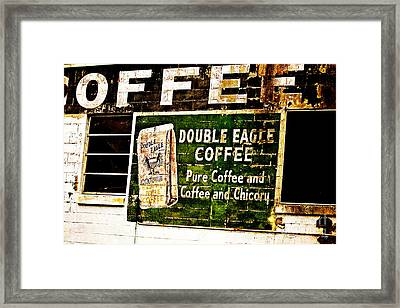 Double Eagle Coffee Framed Print by Scott Pellegrin