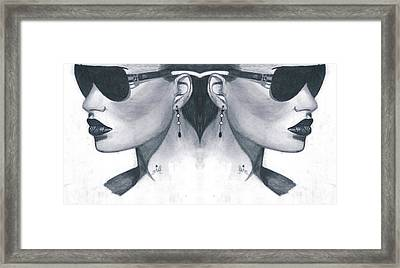 Double Face Framed Print by Bobby Dar