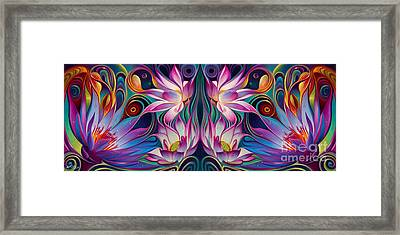 Double Floral Fantasy 2 Framed Print