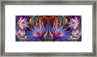 Double Floral Fantasy Framed Print by Ricardo Chavez-Mendez