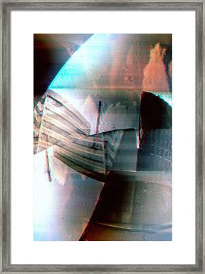 Double Glitch Framed Print