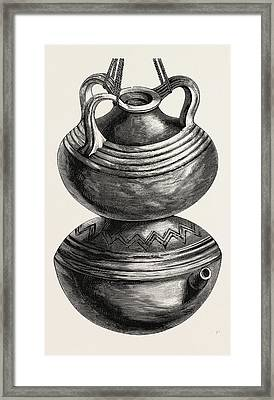 Double Gourd Water Jar Framed Print