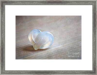 Double Heart Framed Print by Aiolos Greek Collections
