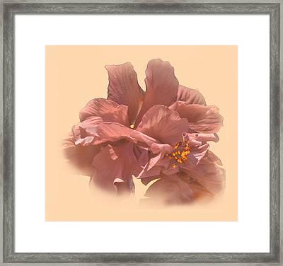 Double Hibiscus Portrait Framed Print