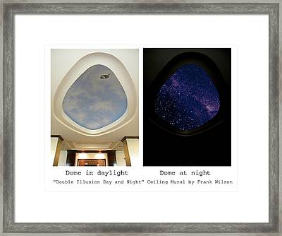Double Illusion Day And Night Ceiling Mural Framed Print