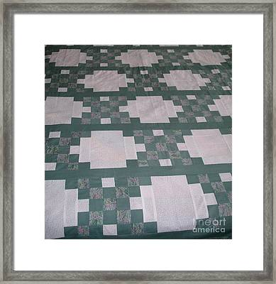 Double Irish Chain Quilt Framed Print