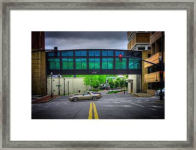 Framed Print featuring the photograph Double Line by Dennis Baswell