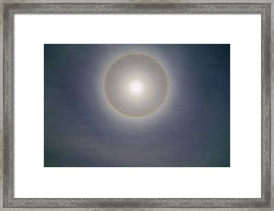 Double Lunar Halo Framed Print by Luis Argerich