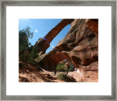 Framed Print featuring the photograph Double O Arch by Jon Emery
