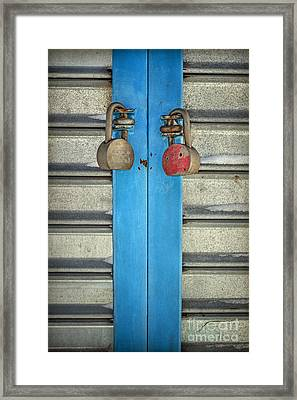 Double Or Nothing Framed Print by Evelina Kremsdorf