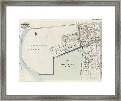 Double Page Plate No. 23 Bounded By U.s Framed Print by Litz Collection