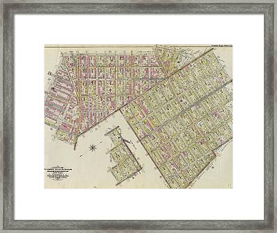 Double Page Plate No. 32 Bounded By Marcy Ave Framed Print by Litz Collection