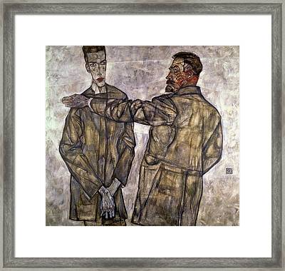 Double Portrait Of Otto And Heinrich Benesch Framed Print