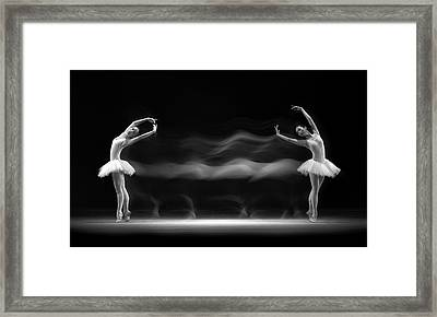 Double Pose Framed Print