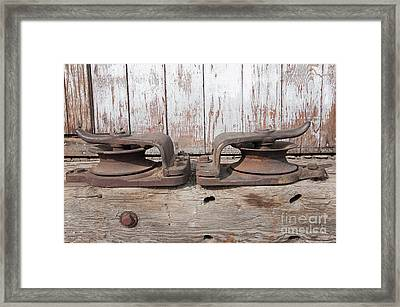 Framed Print featuring the photograph Double Pully by Minnie Lippiatt