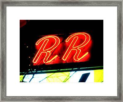 Double R Framed Print by Luis Ludzska