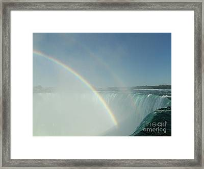 Framed Print featuring the photograph Double Rainbow by Brenda Brown