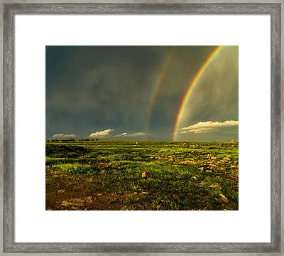Double Rainbow Framed Print by Craig Brown