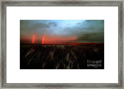Double Rainbow Harney Oregon Framed Print by Michele AnneLouise Cohen