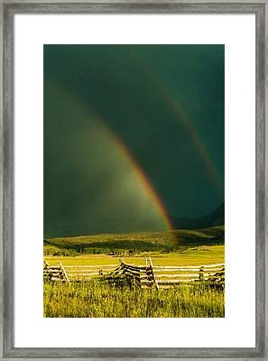 Double Rainbow Framed Print by Jay Stockhaus