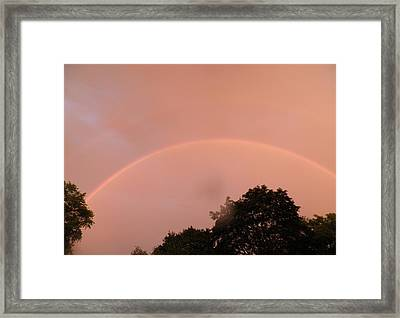 Double Rainbow Framed Print by Kate Gallagher