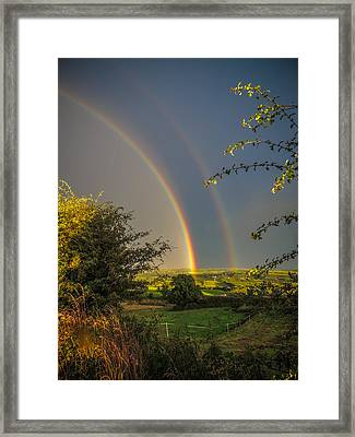 Double Rainbow Over County Clare Framed Print
