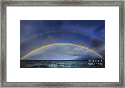 Double Rainbow Over Lake Tahoe Framed Print