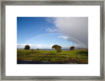 Double Rainbow Framed Print by EXparte SE