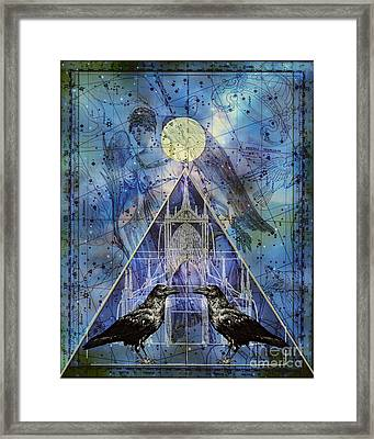 Double Raven Constellation Framed Print by Judy Wood