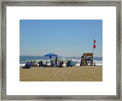 Double Red Framed Print