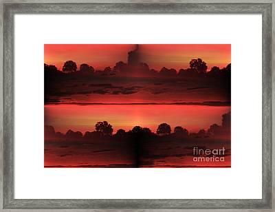 Double Red Sunrise Framed Print