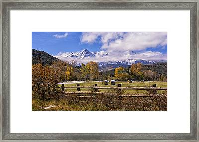 Double Rl Ranch Framed Print by Priscilla Burgers