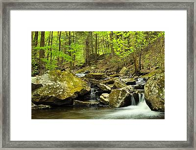 Double Run #2 - Worlds End State Park Framed Print