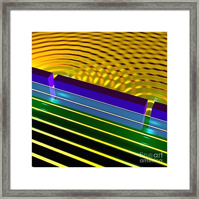 Double Slit Experiment 9 Framed Print by Russell Kightley