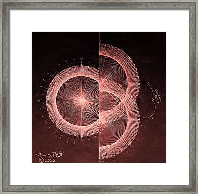 Double Slit Test  Framed Print by Jason Padgett