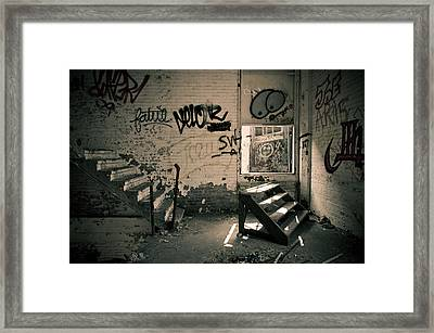 Double Stairs Framed Print by Priya Ghose