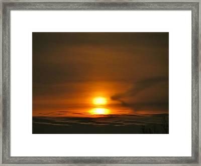Double Sunrise Framed Print