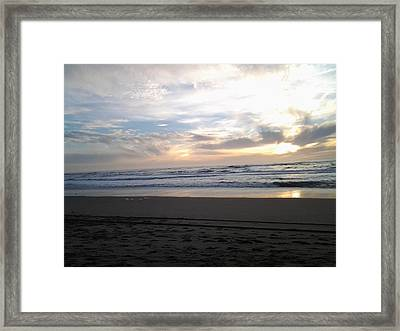 Double Sunset Framed Print