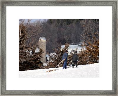 Framed Print featuring the photograph Double The Fun by Linda Mishler