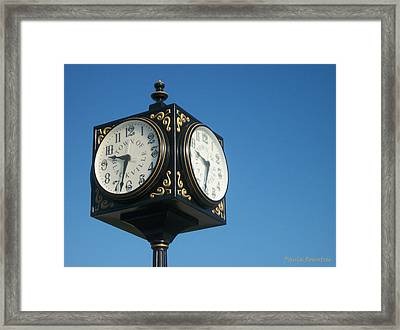 Double Time Framed Print by Paula Rountree Bischoff