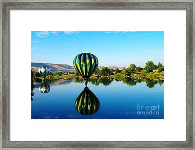 Double Touchdown  Framed Print by Jeff Swan