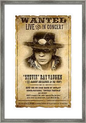 S. R. V. Wanted Poster 2 Framed Print