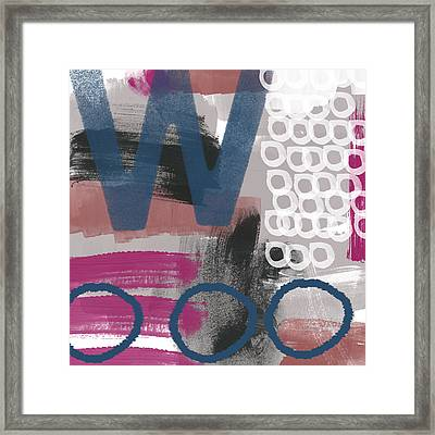 Double Ve- Abstract Painting Framed Print by Linda Woods