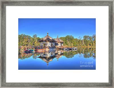 Double Vision Marina Framed Print by Leslie Kirk