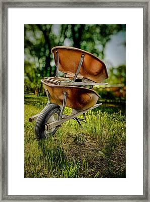 Double Wheelbarrow Framed Print by Yo Pedro